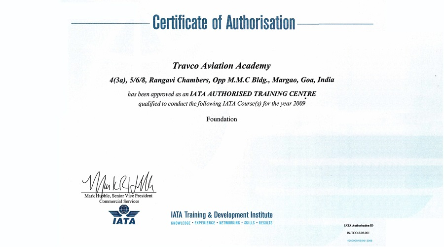 TAA Authorization Certificate