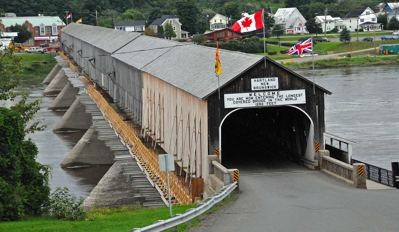 World Record Breaking Bridge - Hartland Covered Bridge